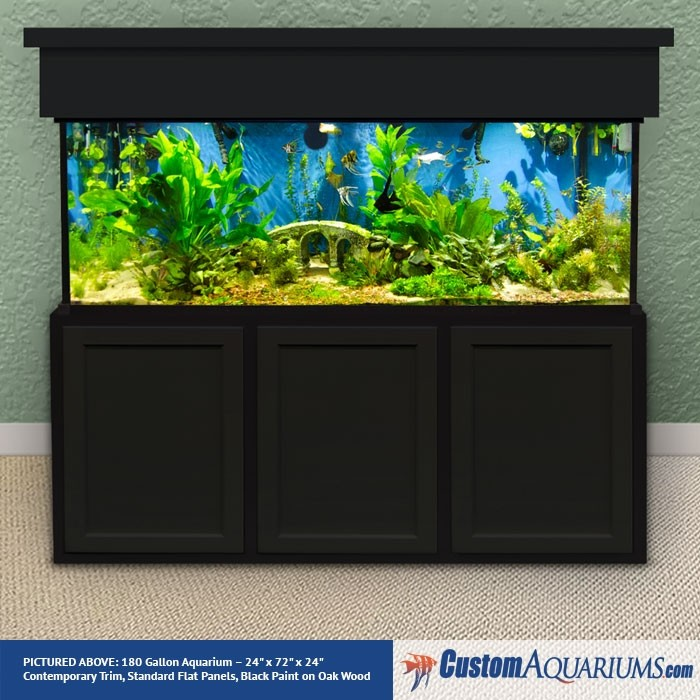 """180 Gallon* Glass Aquarium - 24""""H x 72""""L x 24""""D"""