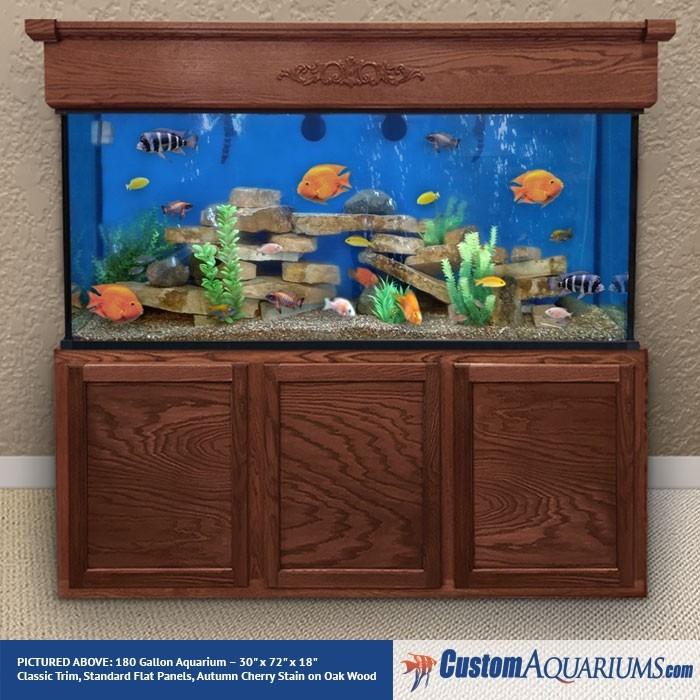 """180 Gallon* Glass Aquarium - 30""""H X 72""""L X 18""""D"""