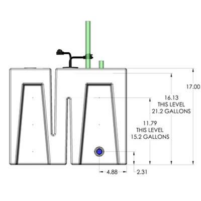 1BE Seamless Sump Tub Configuration 3