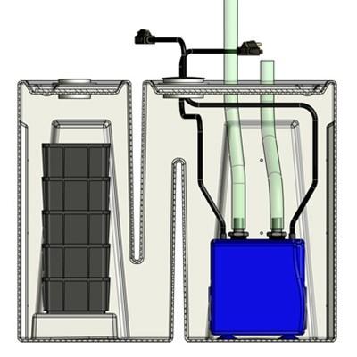 1BR Seamless Sump Tub Configuration 2