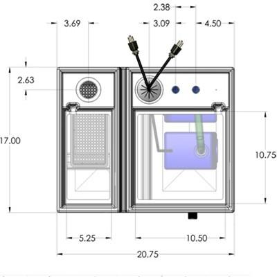 1BR Seamless Sump Tub Configuration 3