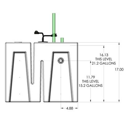 1BR Seamless Sump Tub Configuration 4
