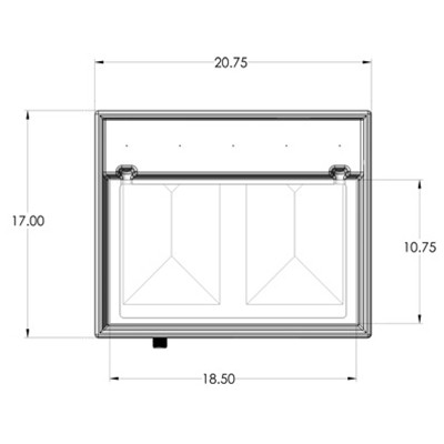 1RE Seamless Sump Tub Configuration 3