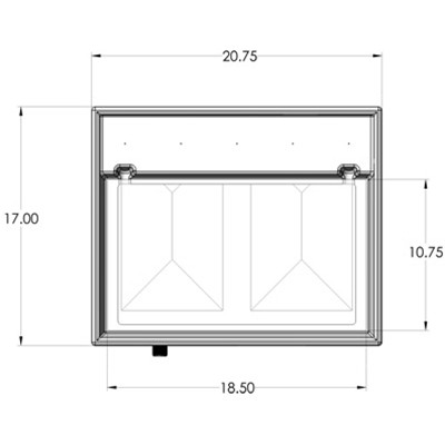 1RR Seamless Sump Tub Configuration 3