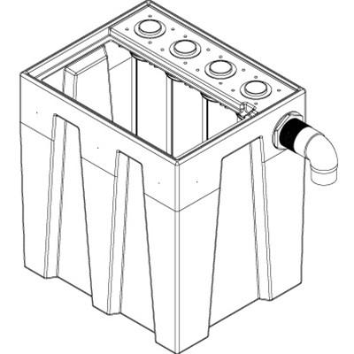 1S4B Seamless Sump Tub Configuration 2