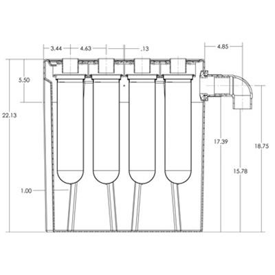 1S4B Seamless Sump Tub Configuration 3