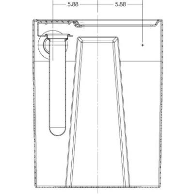 1S4B Seamless Sump Tub Configuration 4