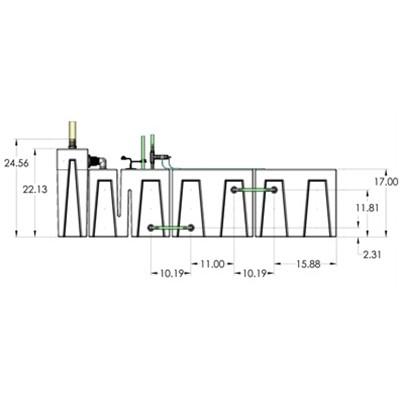 1SB-1BE-1RE-1RR Seamless Sump Tub Configuration 3
