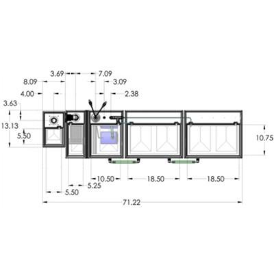 1SB-1BE-1RE-1RR Seamless Sump Tub Configuration 4