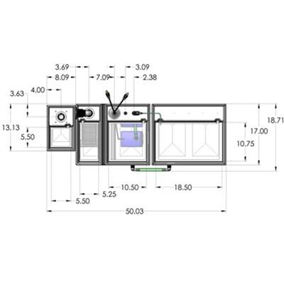 1SB-1BR-1RR Seamless Sump Tub Configuration 4