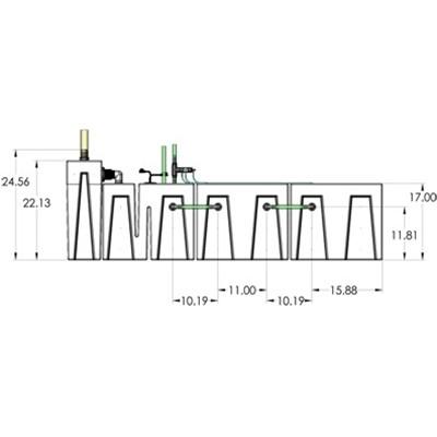 1SB-1BR-2RR Seamless Sump Tub Configuration 3