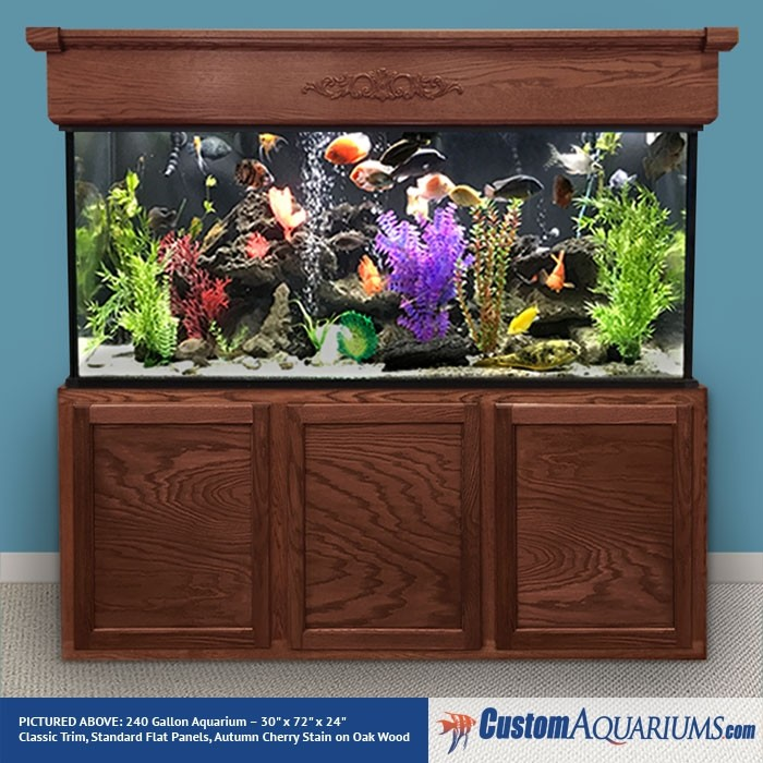 "240 Gallon* Glass Aquarium - 30""H x 72""L x 24""D"