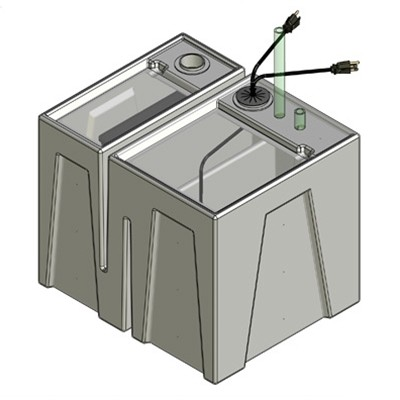 1B Seamless Sump Tub Configuration 1