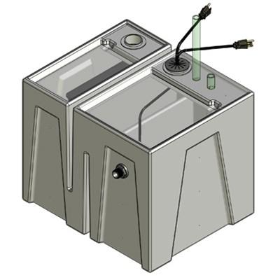 1BR Seamless Sump Tub Configuration 1
