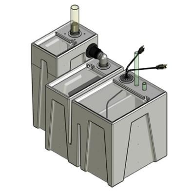 1SB-1B Seamless Sump Tub Configuration 1
