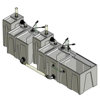 2SB-2BR-1RR Seamless Sump Tub Configuration 1