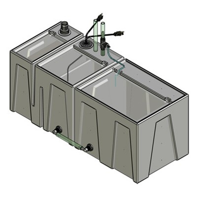 1BE-1RE Seamless Sump Tub Configuration 1