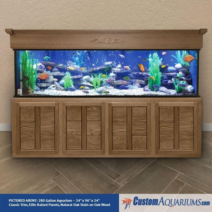 """280 Gallon* Glass Aquarium - 24""""H x 96""""L x 24""""D"""