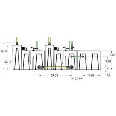 2SB-2BR-1RR Seamless Sump Tub Configuration 3