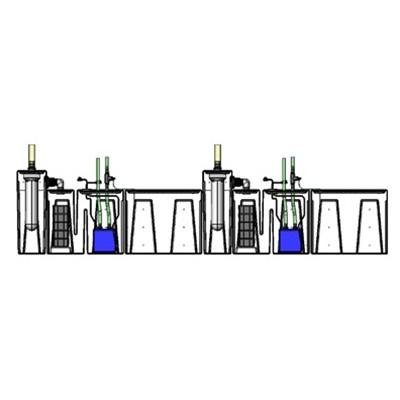 2SB-2BR-2RR Seamless Sump Tub Configuration 2