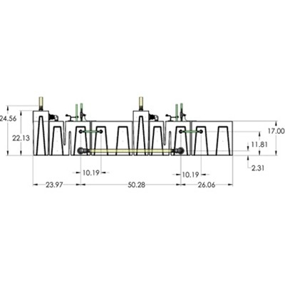 2SB-2BR-2RR Seamless Sump Tub Configuration 3