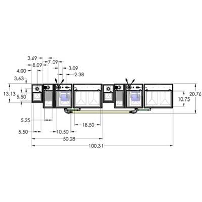 2SB-2BR-2RR Seamless Sump Tub Configuration 4