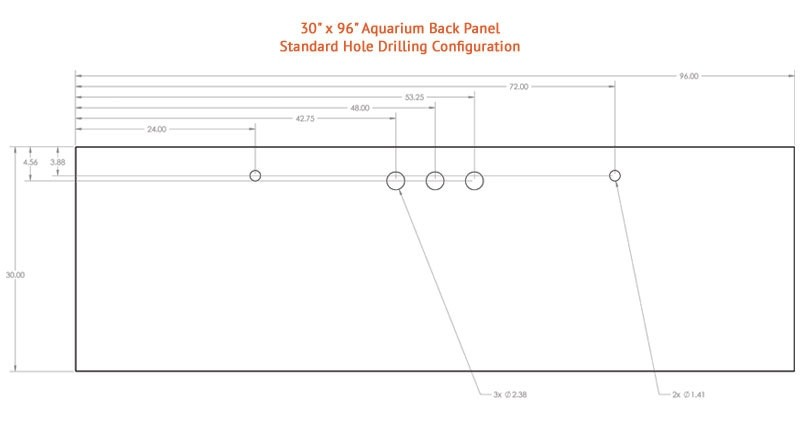 "300 Gallon* Glass Aquarium - 30""H x 96""L x 24""D"