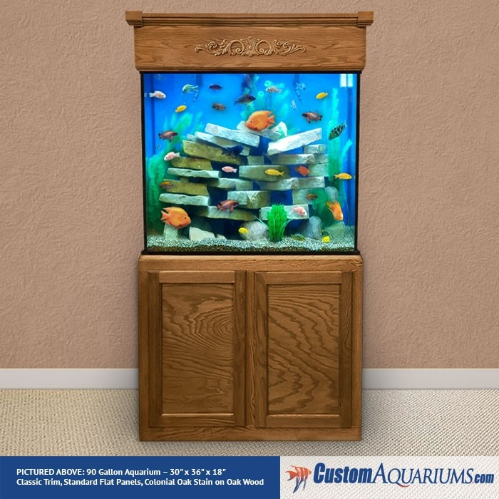 "90 Gallon* Glass Aquarium - 30""H x 36""L x 18""D"