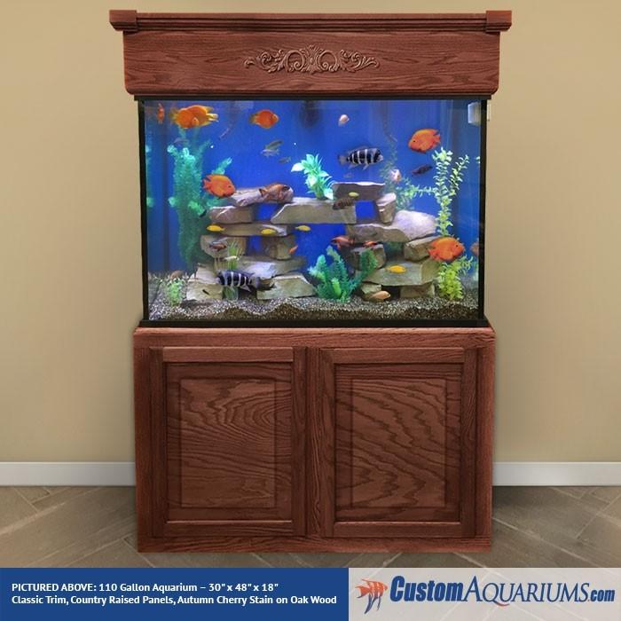"""110 Gallon* Glass Aquarium - 30""""H x 48""""L x 18""""D"""