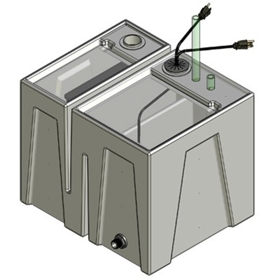 1BE Seamless Sump Tub Configuration 1