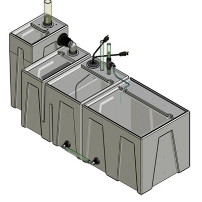 1SB-1BE-1RE Seamless Sump Tub Configuration 1