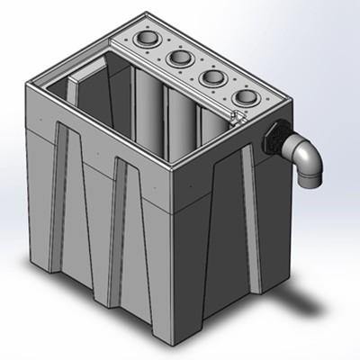 1S4B Seamless Sump Tub Configuration 1
