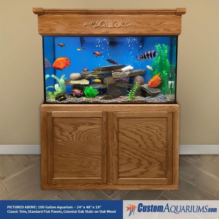 """100 Gallon* Glass Aquarium - 24""""H x 48""""L x 18""""D"""