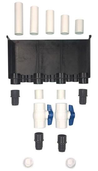 Ultimate 4 Hole 3600GPH Plumbing Kit - Aquarium Overflow Stealthbox