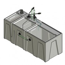 1BR-1RR Seamless Sump® Tub Configuration