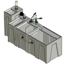 1SB-1BR-1RR Seamless Sump Tub Configuration 1