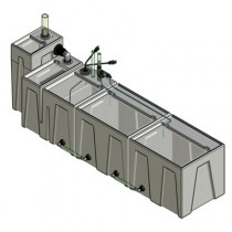 1SB-1BE-2RE Seamless Sump Tub Configuration 1