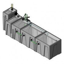 1SB-1BR-2RR Seamless Sump Tub Configuration 1
