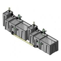 2SB-2BR-2RR Seamless Sump Tub Configuration 1
