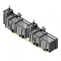 2SB-2BE-2RE Seamless Sump Tub Configuration 1