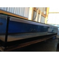 "80 GALLON GLASS AQUARIUM 12""H x 96""L x 18""D - AS IS"