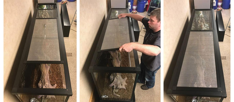 Amphibian Aquariums Removable Sliding Doors
