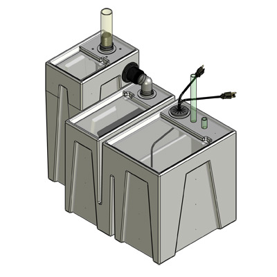 75-105 Gallon Complete Seamless Sump - Seamless Sumps
