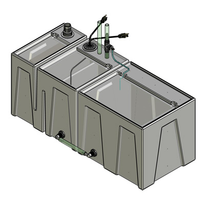 1BE-1RE Baffle Tub