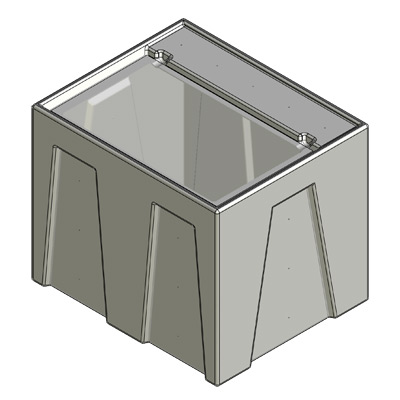 Single Reservoir Tub, no fittings or holes drilled