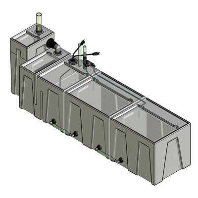 1SB-1BE-2RE Baffle Tub