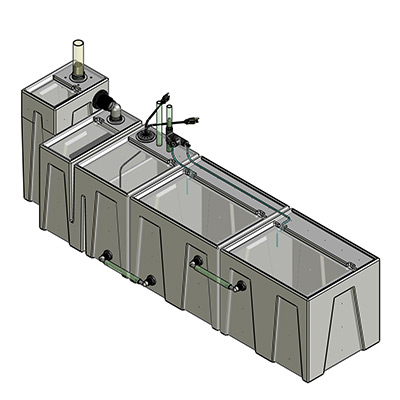 245-300 Gallon Complete Seamless Sump - Seamless Sumps