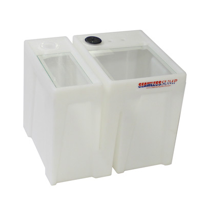 seamless sump® baffle tub aquarium sumps