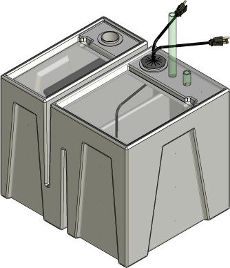 Baffle Tub Only Complete Package - Seamless Sumps